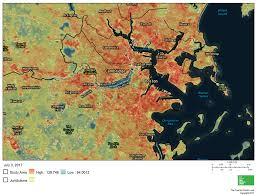 Map Room Boston by No Tropical Paradise Urban U0027heat Islands U0027 Are Hotbeds For Health