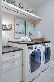 Laundry Cabinet With Hanging Rod Hanging Rod And Shelf Ideas Laundry Room Transitional With Laundry
