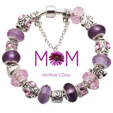 murano glass beads bracelet images Purple and pink murano glass beads love mom charm beads european jpg