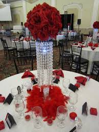 33 amazing red and white centerpieces for weddings