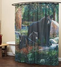 curtain rustic curtains cabin window treatments for black bear