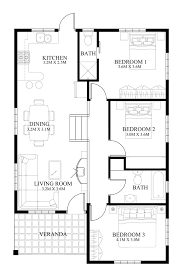 modern house floor plan small house design 2014005 eplans