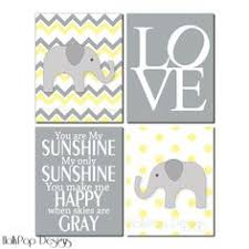 Yellow Gray Nursery Decor Elephant Nursery Mobile Yellow Gray Nursery Mobile You Are My
