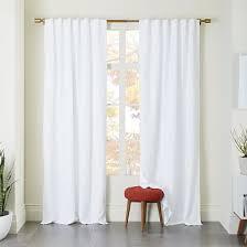linen pole pocket curtain west elm