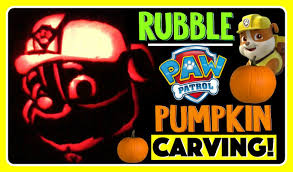pumpkin carving paw patrol rubble pumpkin carving ideas for