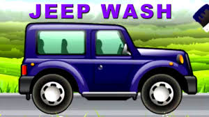 jeep van truck jeep car wash for kids car wash videos for children youtube