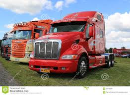 peterbilt show trucks red peterbilt truck in a show editorial image image 58100695