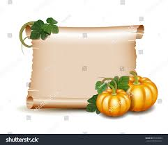 papyrus thanksgiving cards thanksgiving banner card empty paper scroll stock vector 332318822