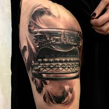 made by stucklife on instagram typewriter tattoo tattoos