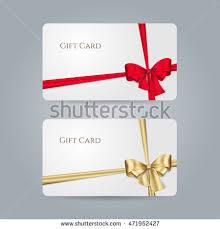 set luxury gift vouchers golden ribbons stock vector 595878626