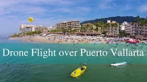 Puerto Vallarta Mexico Map by Drone Flight Over The Friendly Los Muerto Beach In Puerto