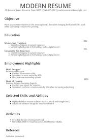modern curriculum vitae exles for graduate modern resume format 79 images le marais free modern resume