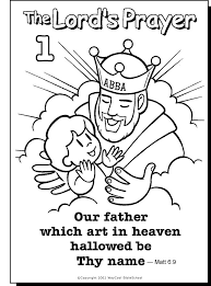 29 free printable lord u0027s prayer coloring pages images