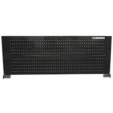 husky 52 in pegboard back wall for tool cabinet black d6tc09002