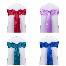 wholesale chair sashes 50pcs lot decoration wedding chair ties satin chair sashes hotel