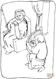 bible king coloring pages u2013 getcoloringpages king david and saul