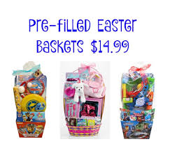 premade easter basket pre filled easter baskets only 14 99 frugal finds during naptime