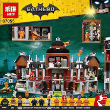new 1628pcs lepin 07055 genuine series batman movie arkham asylum