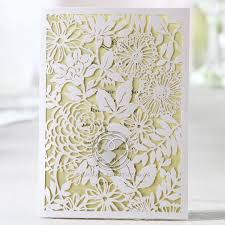garden wedding invitations laser cut garden flowers and leaves on frame charming