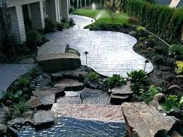 Concrete Ideas For Backyard Stamped Concrete Backyard Ideas U2013 Mobiledave Me