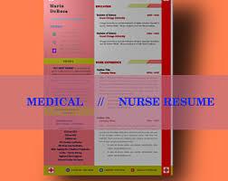 Sample Cover Letter For Registered Nurse Resume by Nurse Resume Etsy