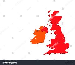 outline map uk ireland over white stock illustration 21074764
