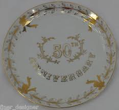 50th anniversary gold plate lefton china painted 50th anniversary plate wedding 3696