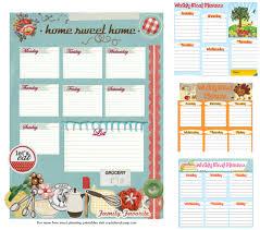 free printable meal plans