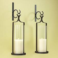 Silver Wall Sconce Candle Holder Artisanal Wall Mount Candleholder Silver Pottery Barn Living