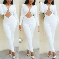 white romper jumpsuit transparent jumpsuit overalls summer casual