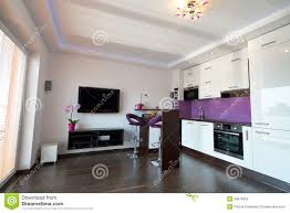 Kitchen Livingroom by Modern Kitchen With Living Room Stock Photo Image 26076950
