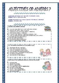 Adjectives And Adverbs Worksheet Adjectives Adverbs Worksheets Mreichert Worksheets