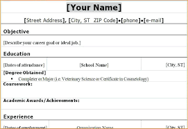 simple curriculum vitae for student sle of simple resume for students sle student resume