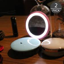 small mirror with lights convenience sale led cosmetic small mirror night light bule or