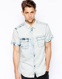 light blue jean shirt esprit denim shirt with acid wash where to buy how to wear