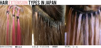 different types of hair extensions hair extensions in japan types braiding cold fusion and seal