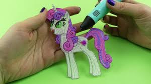 my little pony how to draw sweetie belle alicorn with 3d pen