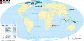 map of the islands largest islands of the top ten largest islands