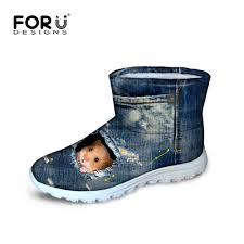 womens warm boots australia aliexpress com buy forudesigns winter shoes 3d denim