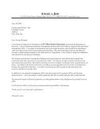 property management cover letter template for exles managers