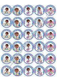 doc mcstuffins cake toppers 30 personalised doc mcstuffins cake toppers 40mm premium rice