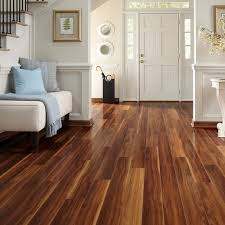 white entry room decor with walnut flooring flooring