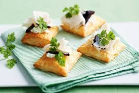 goats cheese canape recipes goats cheese and turkey puffs with quince paste