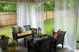 Ideas For Patios Create A Dramatic Look To Your Patio With The Outdoor Patio Drapes