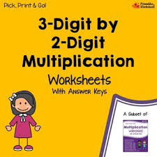 multiplication 3 digits by 2 digits multiplication worksheets with