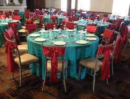 Table Cover Rentals by Aqua Turquoise Apple Red Wedding Décor Linen Rentals Table Covers