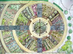 make a circular vegetable garden vegetable garden yards and gardens