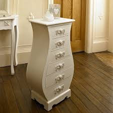 white tall curved chest of drawers bedroom french furniture ornate