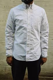gitman bros vintage oxford shirt white made in ashland pa