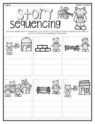 pigs story sequencing activity differentiation